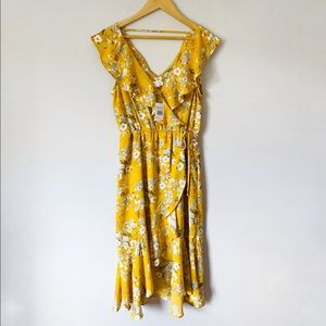 Dresses & Skirts - Mustard yellow floral dress